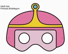 Aug 30th: Princess Bubblegum paper mask. Adventure Time inspired. Not quite printable quality here - By QueenHare for the Design Every Day Project