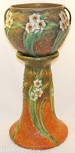 Roseville Pottery Jonquil Jardiniere and Pedestal
