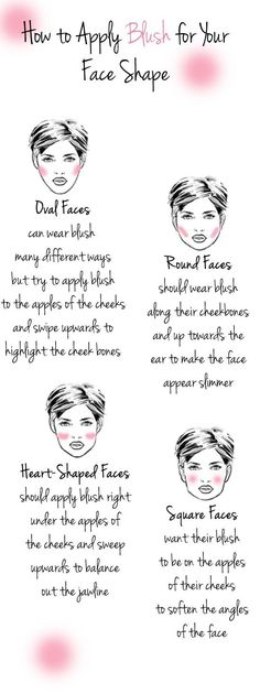 How To Apply Blush For Your Face Shape - Head over to Pampadour.com for product suggestions! Pampadour.com is a community of beauty bloggers, professionals, brands and beauty enthusiasts! #makeup #howto #tutorial #beauty #smokey #smoky #eyes #eyeshadow #cosmetics #beautiful #pretty #love #pampadour #blush #face