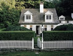 White picket fence #cottage