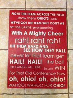 Ohio State Fight Song Subway Art, via Etsy.