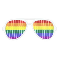 Gay Pride Rainbow Flag LGBT Party Sunglasses from #Ricaso