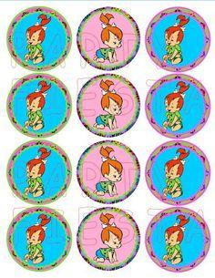 Inspired Bam Bam Cupcake Topper - Stickers GoPartyFiesta