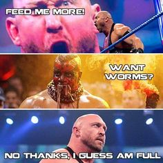 WWE Ryback: Feed me more but not that....