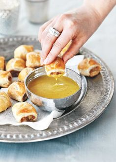 Sausage Rolls With Honey Mustard Dip