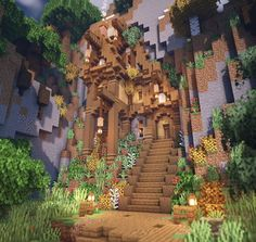 minecraft mountainside house - Explore the best and the special ideas about Minecraft Buildings Villa Minecraft, Plans Minecraft, Architecture Minecraft, Casa Medieval Minecraft, Minecraft Building Guide, Minecraft Houses Survival, Minecraft Structures, Minecraft Cottage, Minecraft Castle