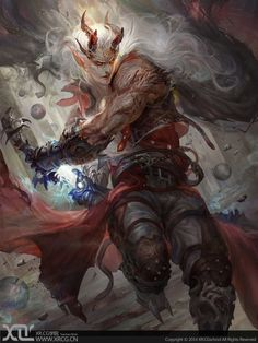 Artist: Li Xiao Feng - Title: Unknown - Card: Fused Swordsman Juskt