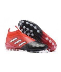 new styles a2d9f 3eab3 Adidas ACE 17 PureControl AG CÉSPED ARTIFICIAL botas de fútbol rojo negro  blanco
