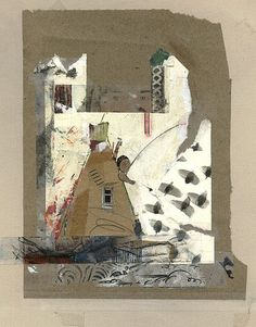 jacqui wegren - collage - looking out