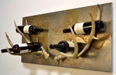 Rustic Antler Wine Rack