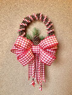 Winter Grapevine Wreath, Red/White Gingham by ColorfulMtnCrafts on Etsy https://www.etsy.com/listing/483339750/winter-grapevine-wreath-redwhite-gingham