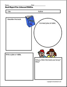 Book Report printables for a variety of genres and age levels