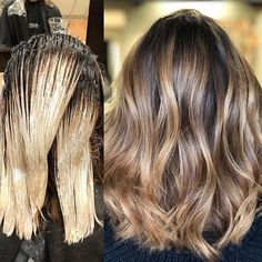 Root melt and Balayage Melt// The Demi 1.5 oz 6N .5 oz Pm Shines 6Bv Balayage// Oligo Clay Lightener 40 volume Toned with Pm Shines 9Bv and 6Bv