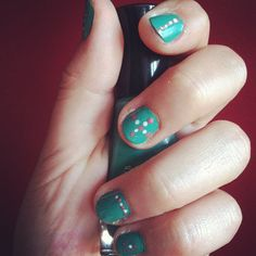 Going a little craycray with the nail polish as of late. However, love turquoise.