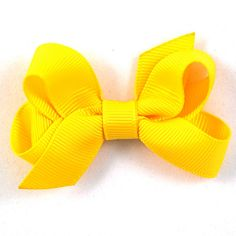 Daffodil Yellow Hair Bow
