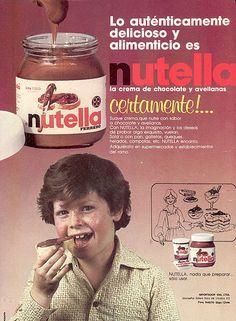Vintage Nutella advertisement. ;)