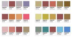 A Cor do Ano 2015 segundo a PANTONE - algumas paletas de cores com o uso da Marsala