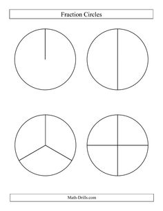 fractions worksheets math fractions large black the large black and ...