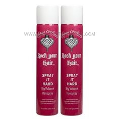 Rock Your Hair Spray It Hard Big Volume Hairspray 10 oz - Beauty Stop Online Hair Volume Spray, Rock Your Hair, Styling Products, Coffee Bottle, Sprays, Good Things, Big, Stuff To Buy, Beauty