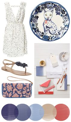 Color Crush: Delphinium + Peony - Home - Creature Comforts - daily inspiration, style, diy projects + freebies
