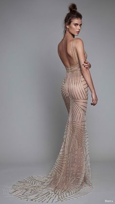 berta rtw fall 2017 (17 09) beaded trumpet evening dress bv - womans dress, womens peach dress, midi dress *sponsored https://www.pinterest.com/dresses_dress/ https://www.pinterest.com/explore/dresses/ https://www.pinterest.com/dresses_dress/sexy-dresses/ http://www.torrid.com/dresses/