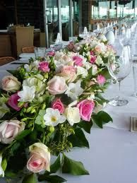 #Wedding reception #bridal #table #flowers not overflowing pale pink theme