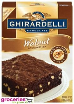 Ghirardelli Chocolate Brownie Mix Walnut 17 oz Pack of 6 ** You can get additional details at the image link.