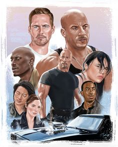 fast and furious compilation limited edition poster fan art by artist tony santiago Movie Fast And Furious, Furious Movie, The Furious, Joker Poster, Luke Evans, Vin Diesel, Dwayne Johnson, Fast Cars, Role Models
