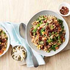 Quick Pork and Vegie Fried Rice