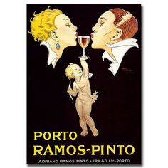 """Trademark Fine Art 35x47 inches """"Porto Ramos Pinto"""" by Rene Vincent"""