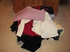 Clothes Purging-- how to let go.