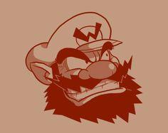 #Hipster Wario ! #Geek #Mario