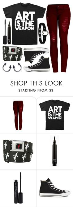 """""""Art Is The Weapon"""" by spnlex ❤ liked on Polyvore featuring 2LUV, Smashbox and Converse"""