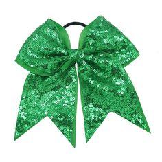 Shamrock Sparkle Cheer Bow