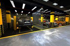 Car care center design 2019 on Behance Garage Workshop Plans, Car Workshop, Workshop Design, Garage Furniture, Garage Interior, Automotive Furniture, Automotive Decor, Furniture Design, Mechanic Shop