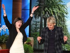 Here's a happy story: Nearly a year ago, Hélène Campbell of Canada met Ellen DeGeneres over Skype when she was in desperate need of a double-lung transplant. Now she's received her lifesaving transplant and today she was finally able to meet Ellen in person on The Ellen DeGeneres Show! #donatelife