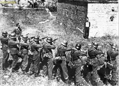 French Georges Blind Mock Execution by Nazi Soldiers 1944