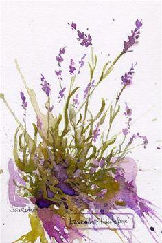 """""""Lavender - Hidcote Blue - No2"""" - Original Fine Art for Sale - © Chris Carter"""