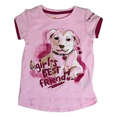 Carhartt Baby Girls Puppy Tee Light Pink 9 Months * Click image to review more details.