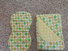 Hem Stitch Baby Boy Green Frog- Flannel Receiving Blanket and Burp Cloth by TheRedGeranium on Etsy