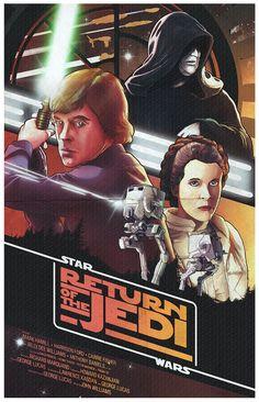 "Star Wars Return of the Jedi Poster - Nicolas Barbera"""