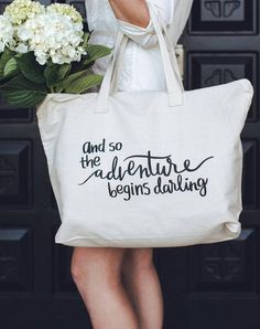 Product Description Suggestions for Use Product Video Darling Canvas Tote Bag with Quote perfect for life's next big adventure. Whether it's getting married, st