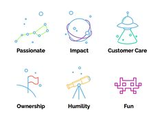 Core Values Icons by Kevin Granger