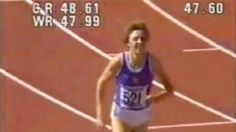 World Record 400m Women   Watch Marita Koch's world record 400m run - ABC News (Australian ...