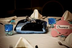 Ultimate Disney Weddings Centerpieces getting there...