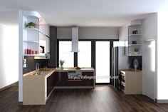Tủ bếp hiện đại nhà anh công - Chung cư The Pride, Hà Nội