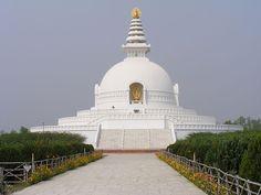 The World Peace Pagoda - Lumbini, Nepal