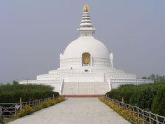 The World Peace Pagoda - Lumbini, Nepal