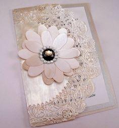 Vintage Couture Wedding Invitation Swarovski Crystal Smokey Jewel Doily Clutch. $10.00, via Etsy.