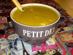 Excellent Creamy Squash Soup from Jenny's MyKitch'n in the Marche Batignolled, Paris.